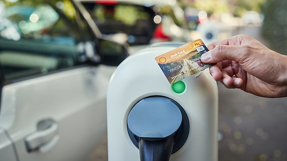 Shell card in hand
